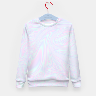 Thumbnail image of Faux holographic effect texture blue Kid's sweater, Live Heroes