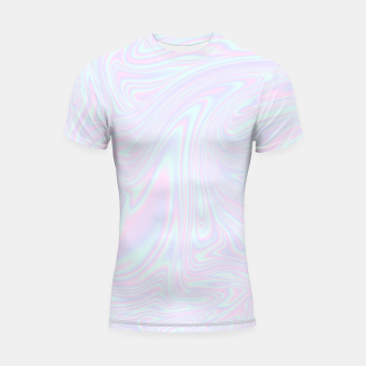 Thumbnail image of Faux holographic effect texture blue Shortsleeve rashguard, Live Heroes