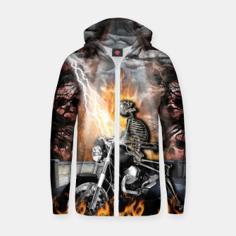Thumbnail image of GO TO HELL Sudadera con capucha y cremallera , Live Heroes