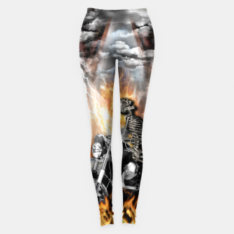 Thumbnail image of GO TO HELL Leggings, Live Heroes