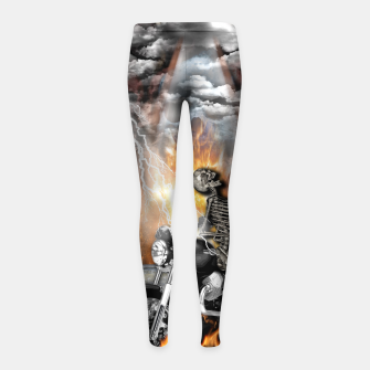 Thumbnail image of GO TO HELL Leggings para niña, Live Heroes
