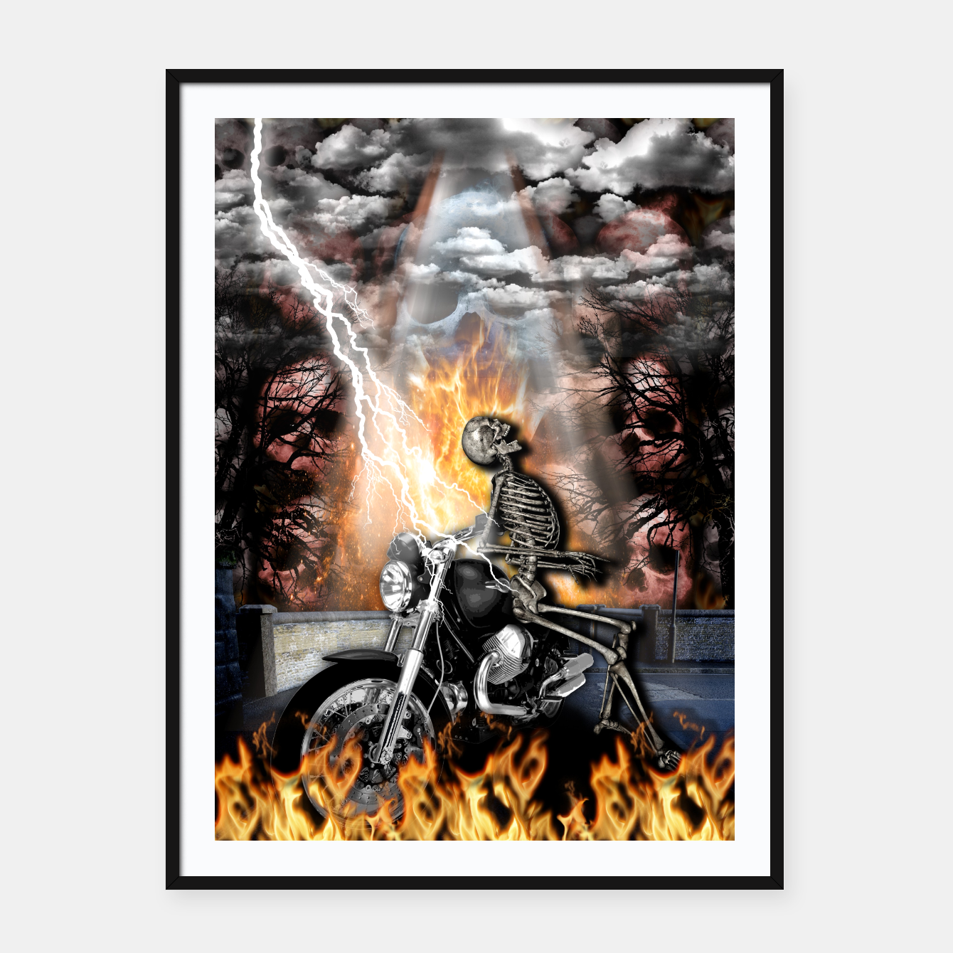 Image of GO TO HELL Cartel con marco - Live Heroes