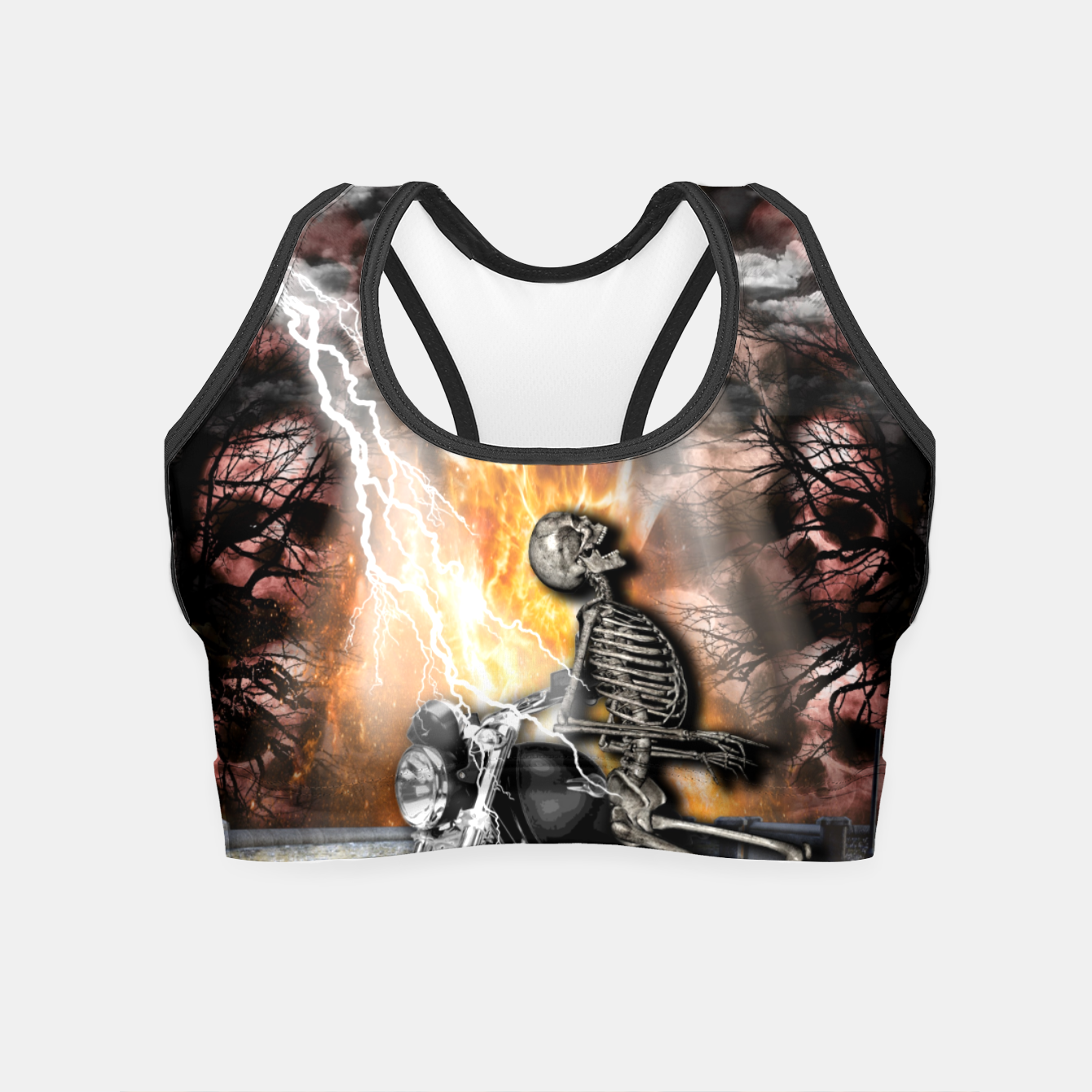 Image of GO TO HELL Crop Top - Live Heroes