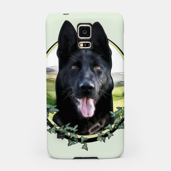 Thumbnail image of Black German Shepherd - Graphic Style Handyhülle für Samsung, Live Heroes