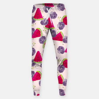 Miniatur Roses and Watermelons Sweatpants, Live Heroes
