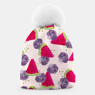 Miniatur Roses and Watermelons Beanie, Live Heroes