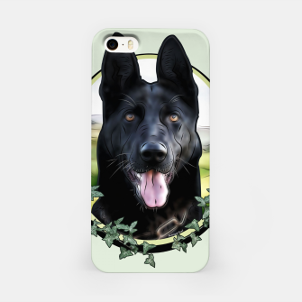 Thumbnail image of Black German Shepherd - Graphic Style iPhone-Hülle, Live Heroes