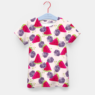 Miniatur Roses and Watermelons Kid's t-shirt, Live Heroes