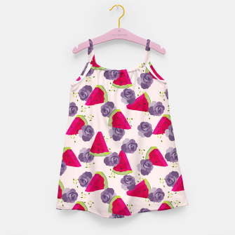 Miniatur Roses and Watermelons Girl's dress, Live Heroes