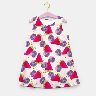 Miniatur Roses and Watermelons Girl's summer dress, Live Heroes