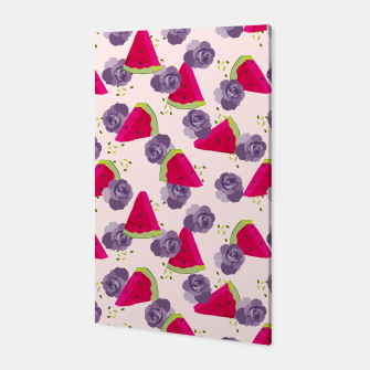 Miniatur Roses and Watermelons Canvas, Live Heroes