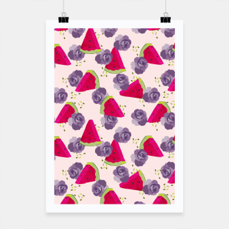 Miniatur Roses and Watermelons Poster, Live Heroes