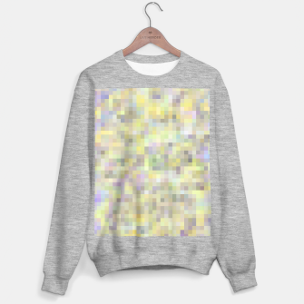 geometric square pixel pattern abstract background in yellow and pink Sweater regular Bild der Miniatur