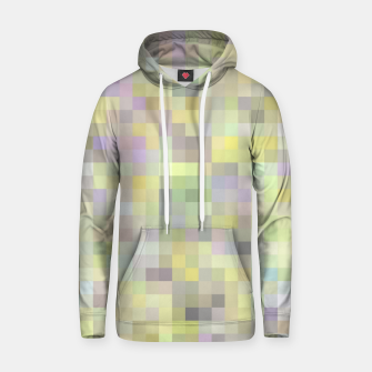 geometric square pixel pattern abstract background in yellow and pink Hoodie Bild der Miniatur