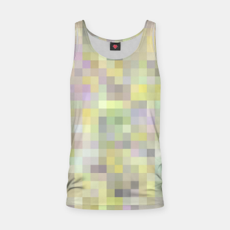 geometric square pixel pattern abstract background in yellow and pink Tank Top Bild der Miniatur