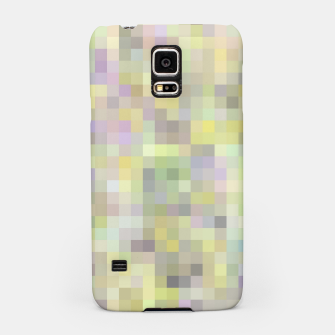 Miniatur geometric square pixel pattern abstract background in yellow and pink Samsung Case, Live Heroes
