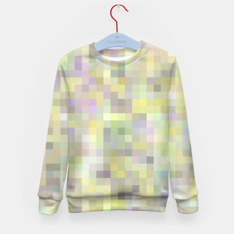 geometric square pixel pattern abstract background in yellow and pink Kid's sweater Bild der Miniatur