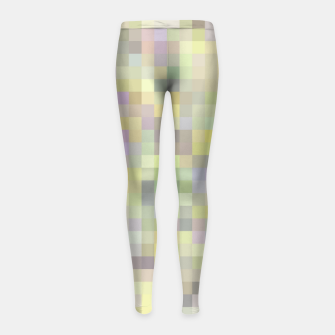 geometric square pixel pattern abstract background in yellow and pink Girl's leggings Bild der Miniatur
