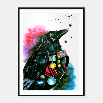 Thumbnail image of warrior Framed poster, Live Heroes
