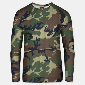 Thumbnail image of Knitted camo sweater Unisex sweater, Live Heroes