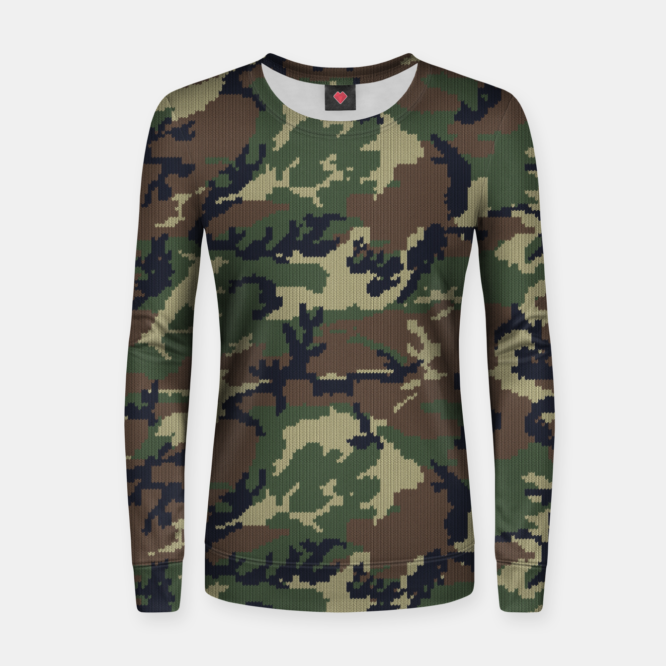 Image of Knitted camo sweater Women sweater - Live Heroes