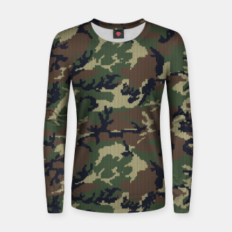 Thumbnail image of Knitted camo sweater Women sweater, Live Heroes