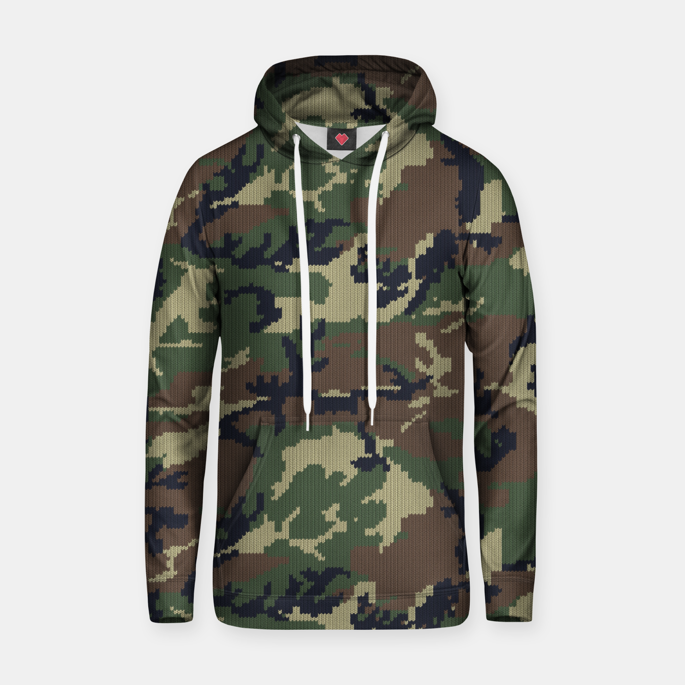 Image of Knitted camo sweater Hoodie - Live Heroes
