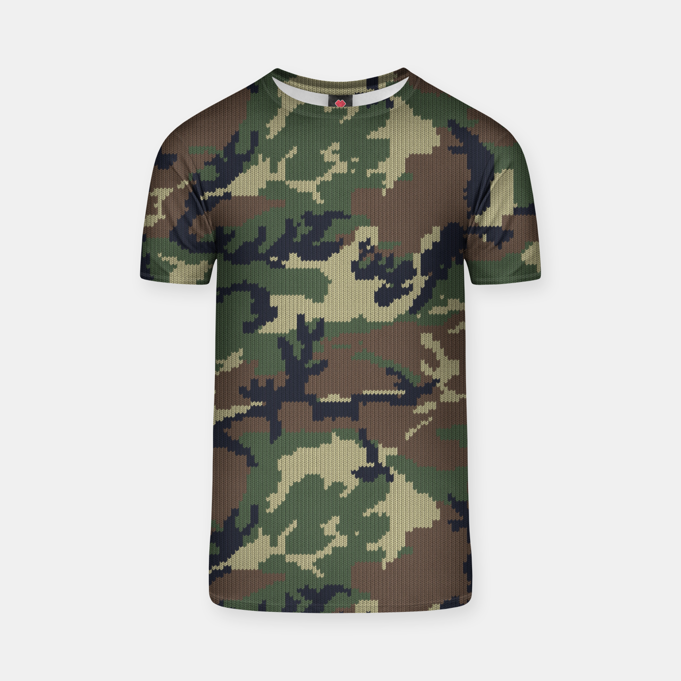 Image of Knitted camo sweater T-shirt - Live Heroes