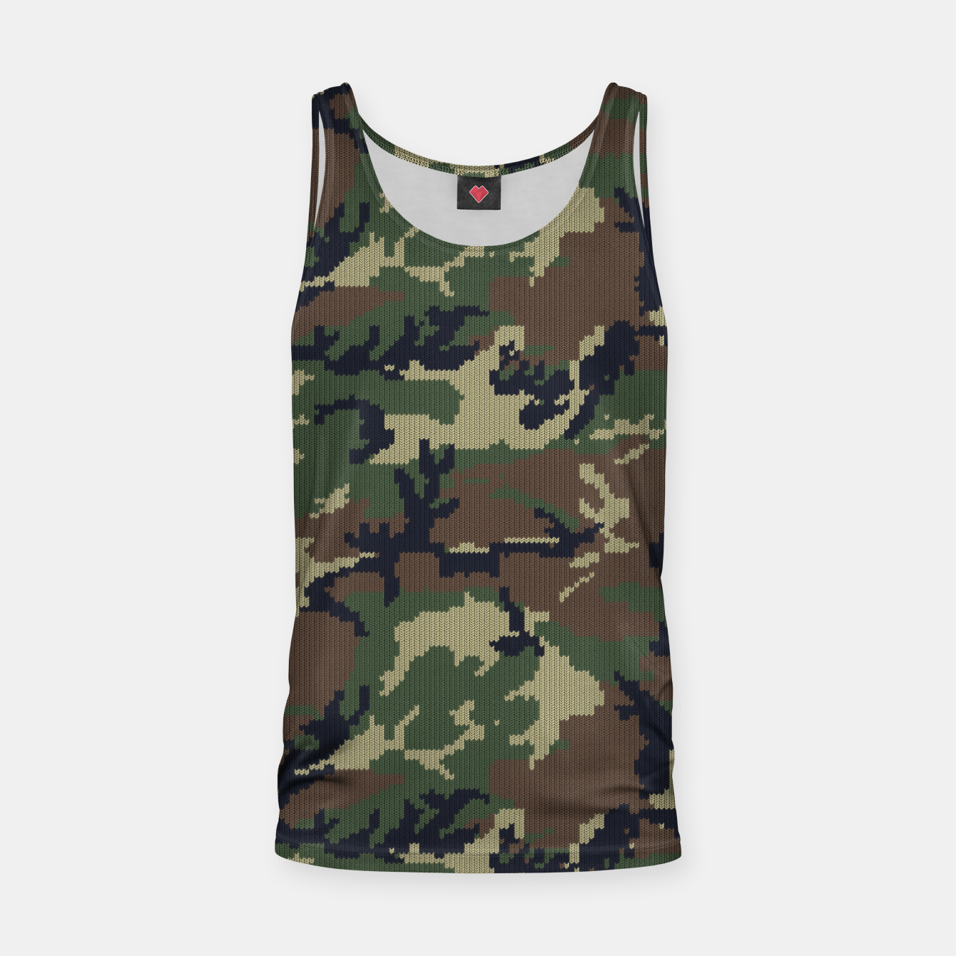 Image of Knitted camo sweater Tank Top - Live Heroes