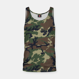 Thumbnail image of Knitted camo sweater Tank Top, Live Heroes