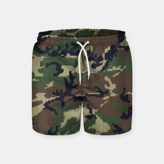 Knitted camo sweater Swim Shorts thumbnail image
