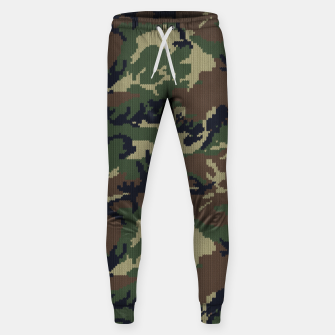 Thumbnail image of Knitted camo sweater Sweatpants, Live Heroes