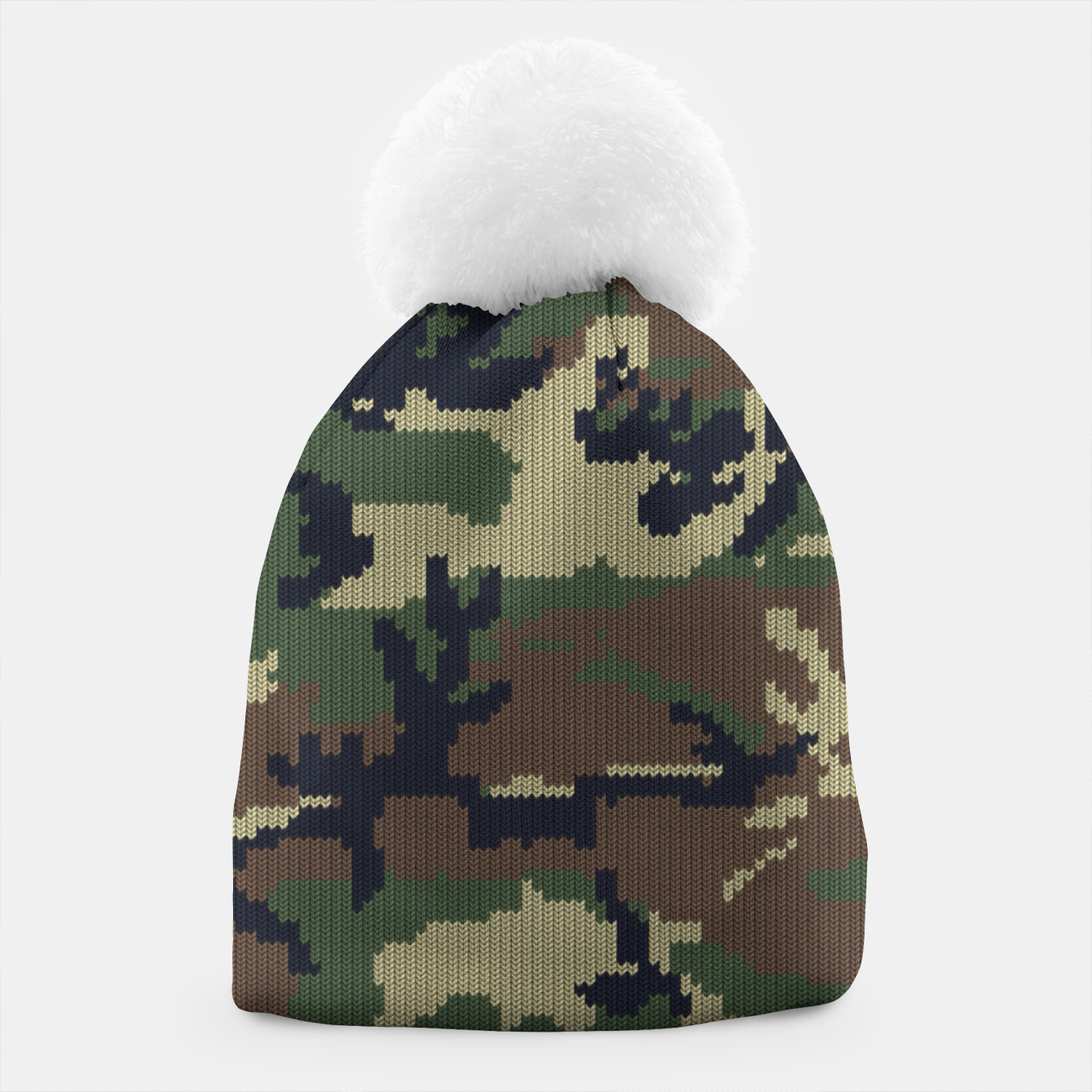 Image of Knitted camo sweater Beanie - Live Heroes