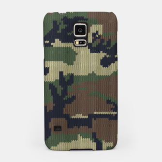 Knitted camo sweater Samsung Case thumbnail image