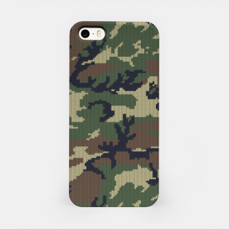 Knitted camo sweater iPhone Case thumbnail image