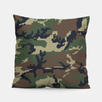 Thumbnail image of Knitted camo sweater Pillow, Live Heroes
