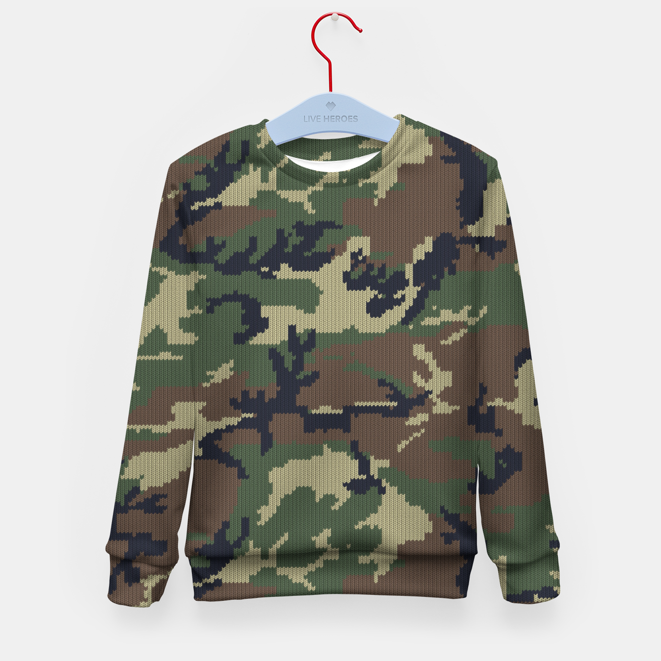 Image of Knitted camo sweater Kid's sweater - Live Heroes