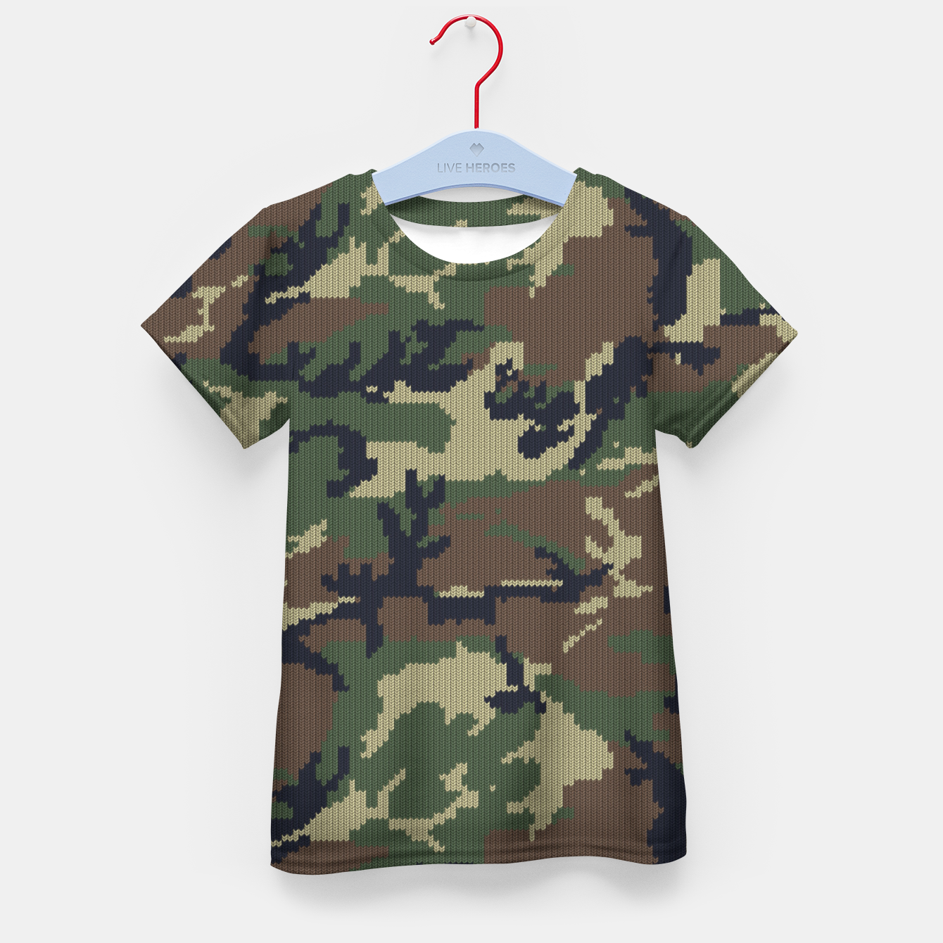 Image of Knitted camo sweater Kid's t-shirt - Live Heroes