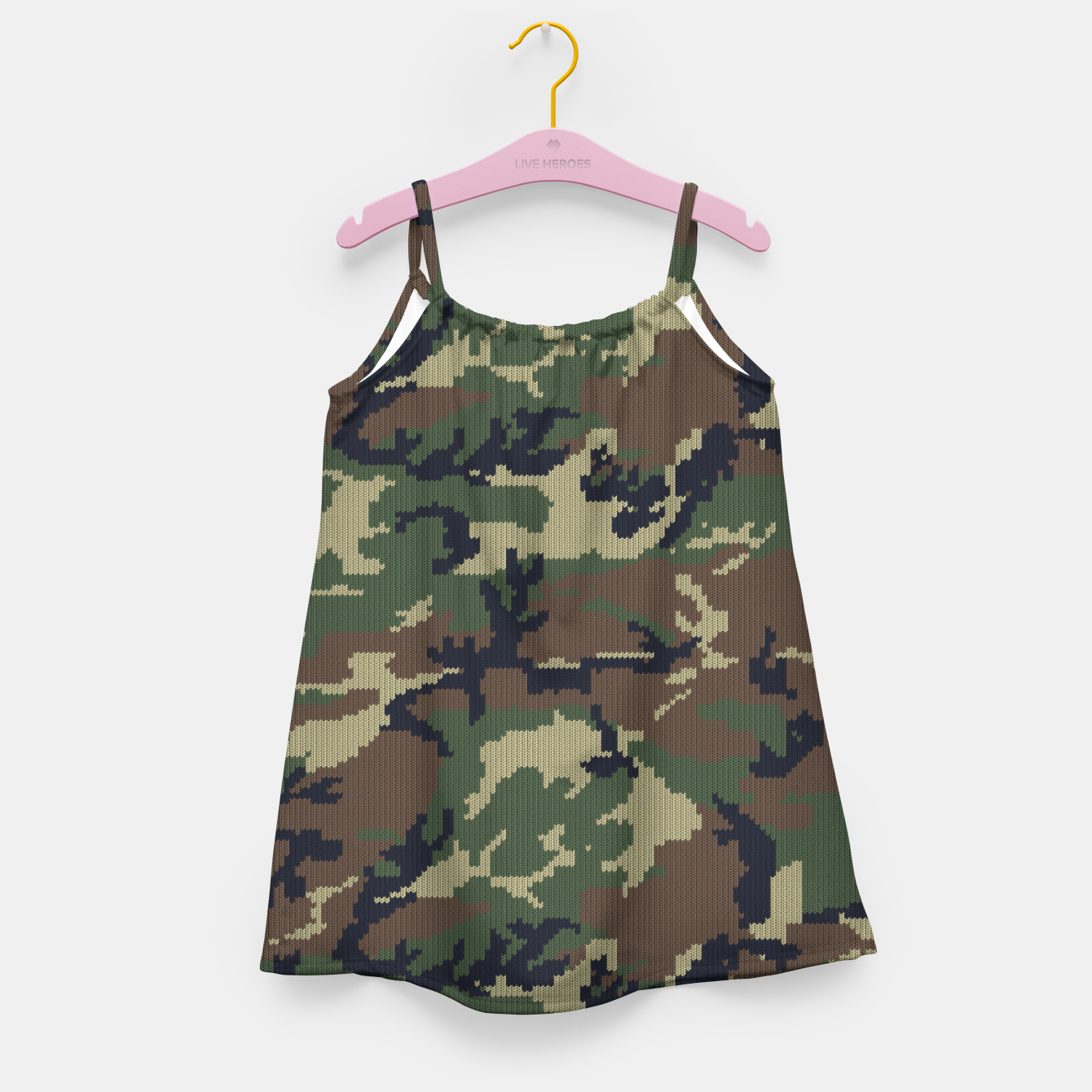 Image of Knitted camo sweater Girl's dress - Live Heroes