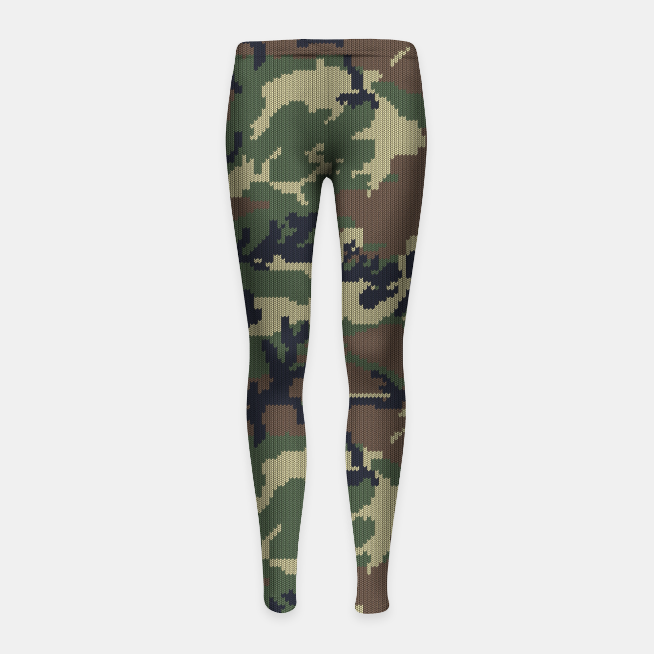 Image of Knitted camo sweater Girl's leggings - Live Heroes