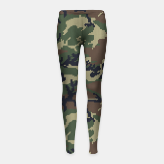 Thumbnail image of Knitted camo sweater Girl's leggings, Live Heroes