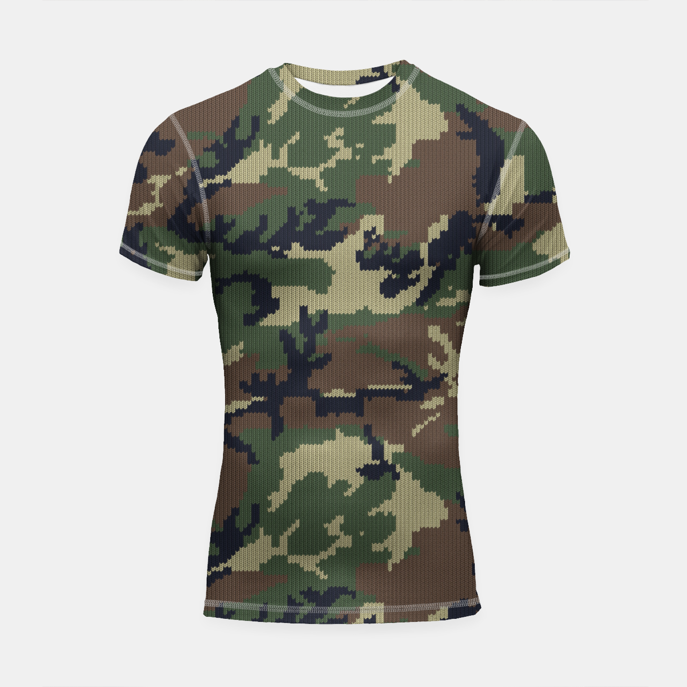 Image of Knitted camo sweater Shortsleeve rashguard - Live Heroes