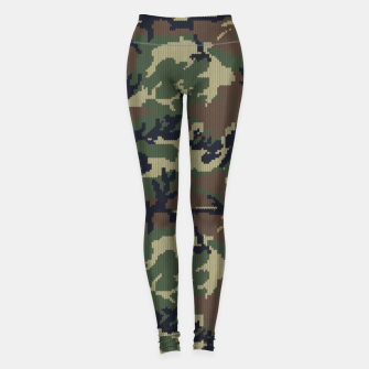 Knitted camo sweater Leggings thumbnail image