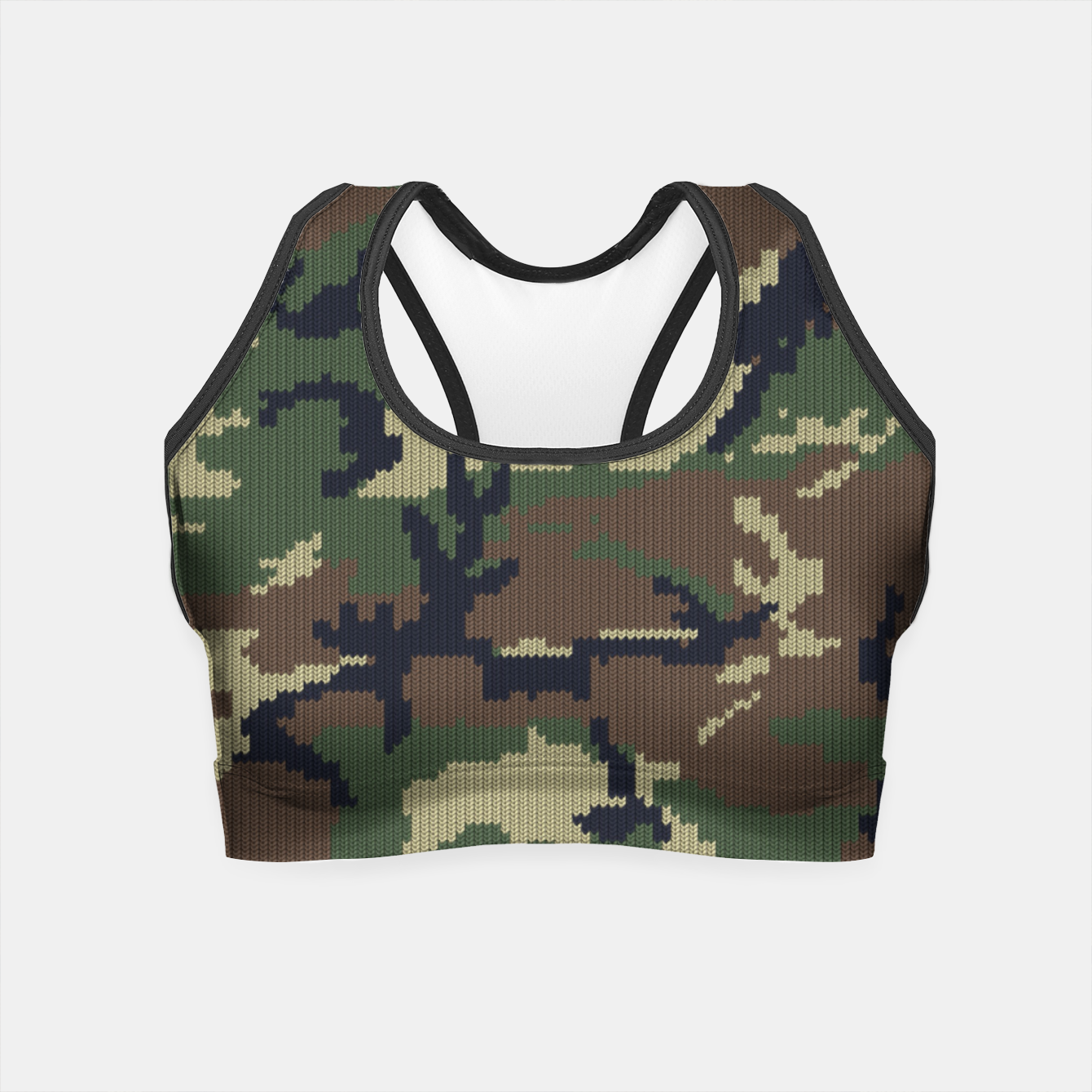 Image of Knitted camo sweater Crop Top - Live Heroes