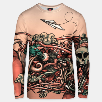 Miniatur Head Scream Doodle Unisex sweater, Live Heroes