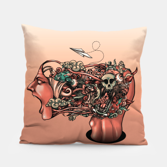 Miniatur Head Scream Doodle Pillow, Live Heroes
