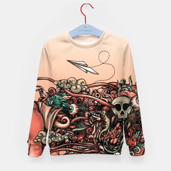 Miniatur Head Scream Doodle Kid's sweater, Live Heroes