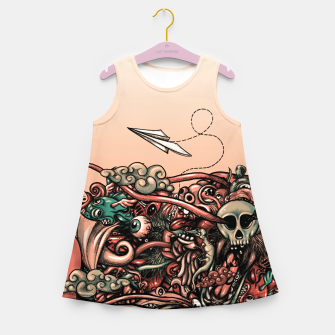 Miniatur Head Scream Doodle Girl's summer dress, Live Heroes