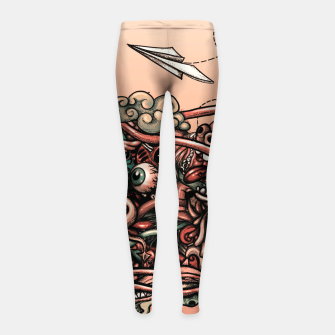 Miniatur Head Scream Doodle Girl's leggings, Live Heroes