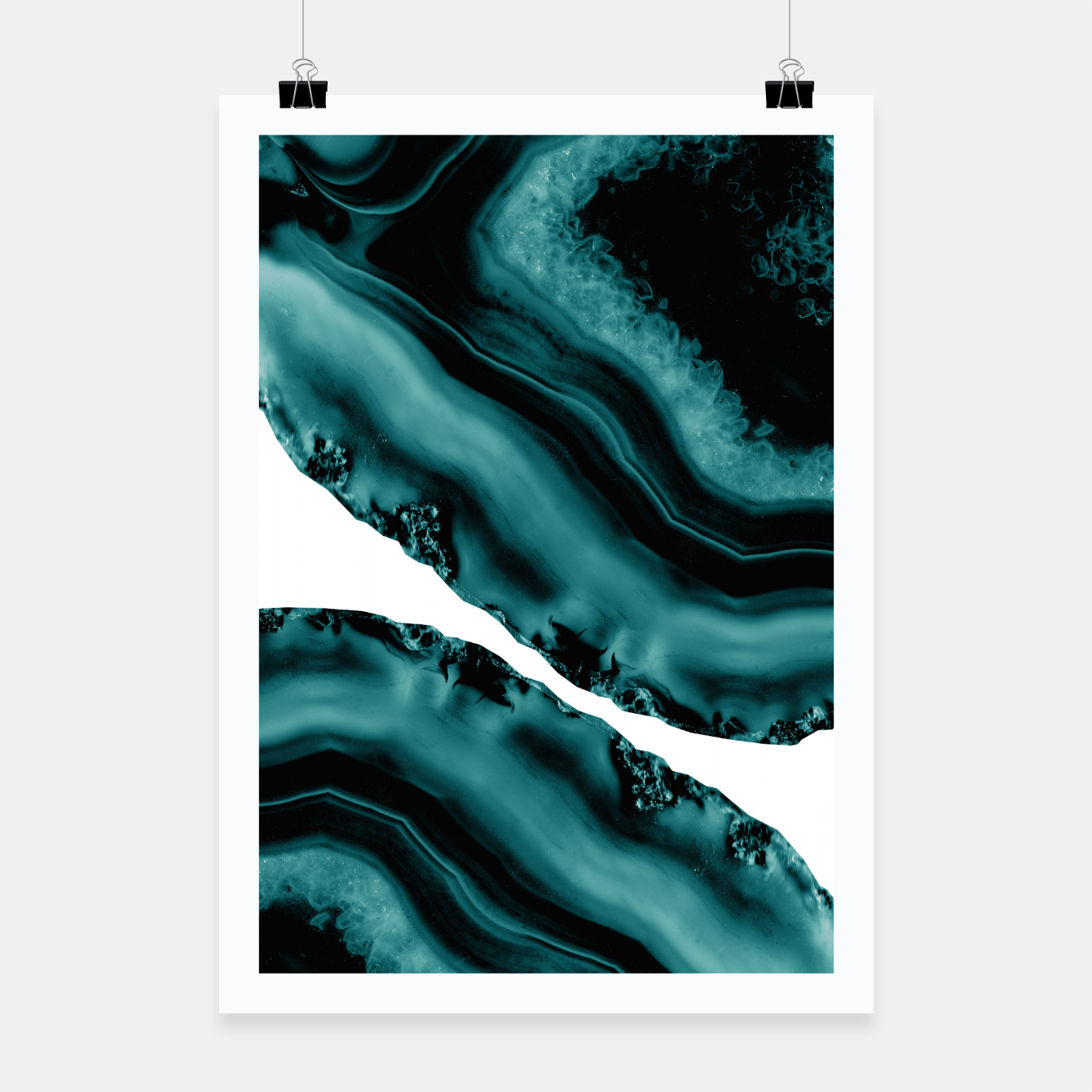 Image of Dark Turquoise Agate #1 #gem #decor #art Plakat - Live Heroes